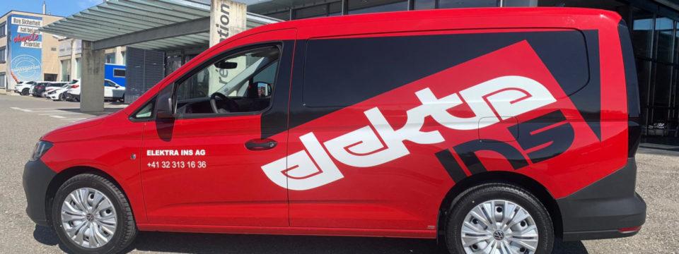Beschriftung VW Caddy Elektra Ins